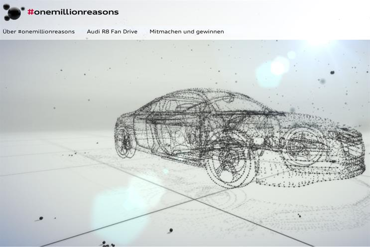 Audi: interactive microsite creates a 3D image from user-generated content
