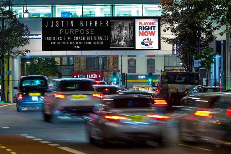 Justin Bieber: billboards will promote his album 'Purpose'