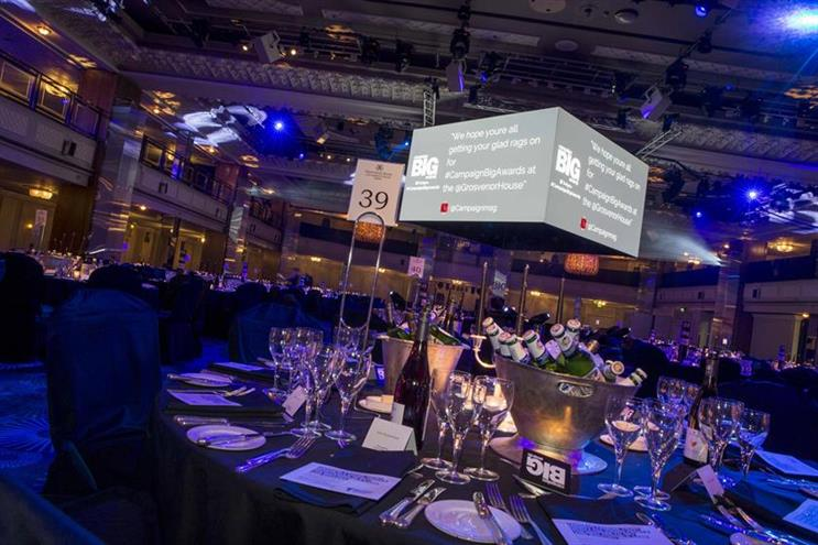 Campaign Big Awards: ceremony will take place at Grosvenor House in October