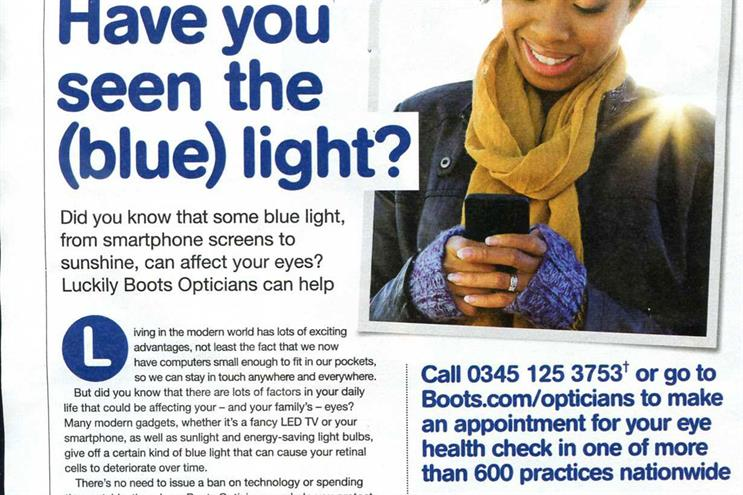 Boots Opticians: the ASA said the claims about blue light could not be substantiated