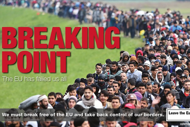Nigel Farage produced this outdoor poster for the Leave campaign today