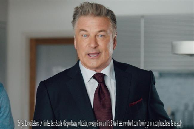 Alex Baldwin: starred in BT's campaign this year promoting its internet service