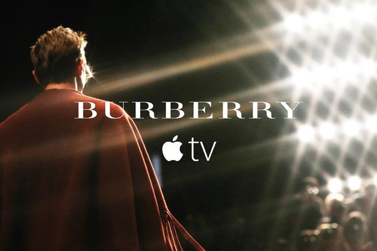 Burberry: continuing its marketing love-in with Apple with a new Apple TV app