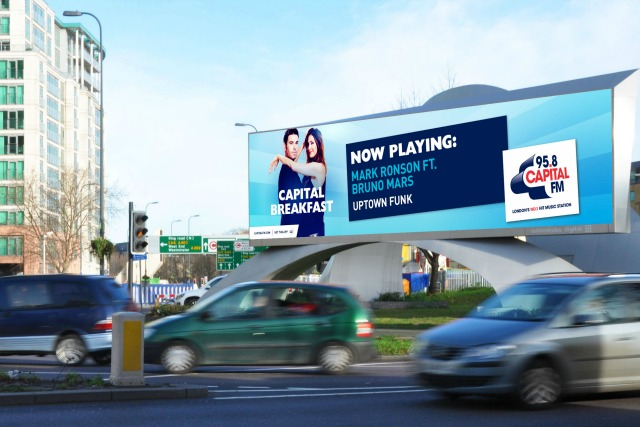 Capital Radio: relays tracks to Outdoor Plus screens via CrowdScreen