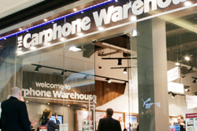 Carphone Warehouse: opens Samsung stores