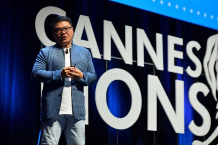 Media Person of the Year awardee SY Lau, delivered his keynote speech at Cannes Lions