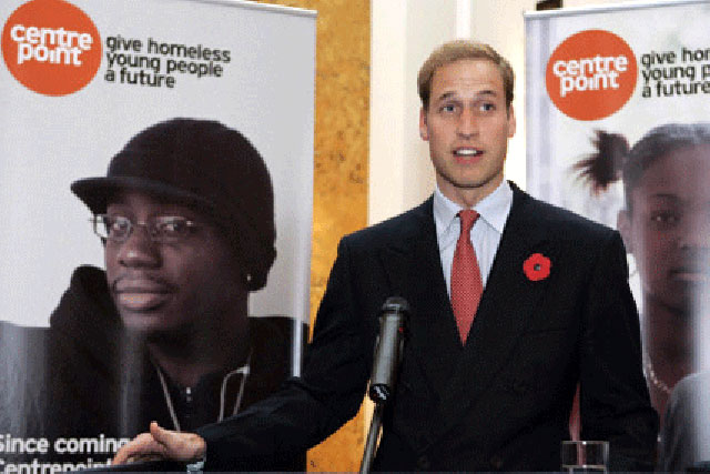 Centrepoint: Prince William is patron of the charity