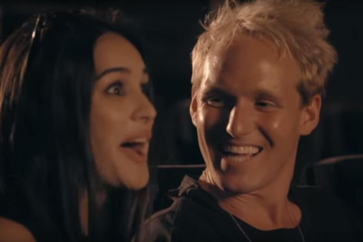 Made in Chelsea LA: Jamie Laing, right, takes Naz Gharai on a date at the Fox studio in Los Angeles