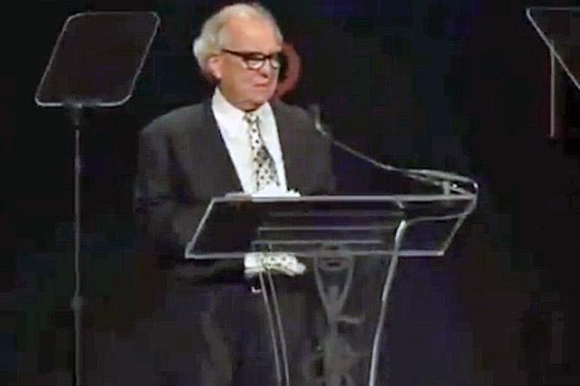 Clio Awards: Washington Olivetto, chairman of WMcCann, receives his Lifetime Achievement Award