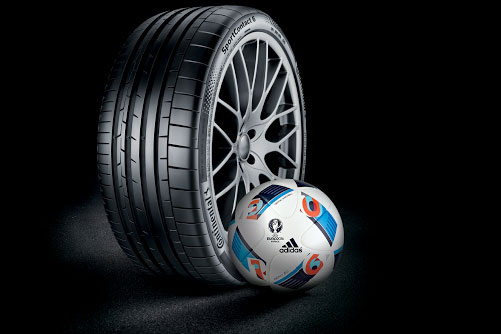 Continental: will provide tyres for team buses during Euro 2016