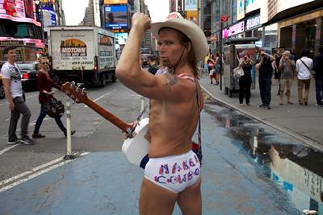 The Naked Cowboy: stars in Expedia's #tyi Twitter campaign
