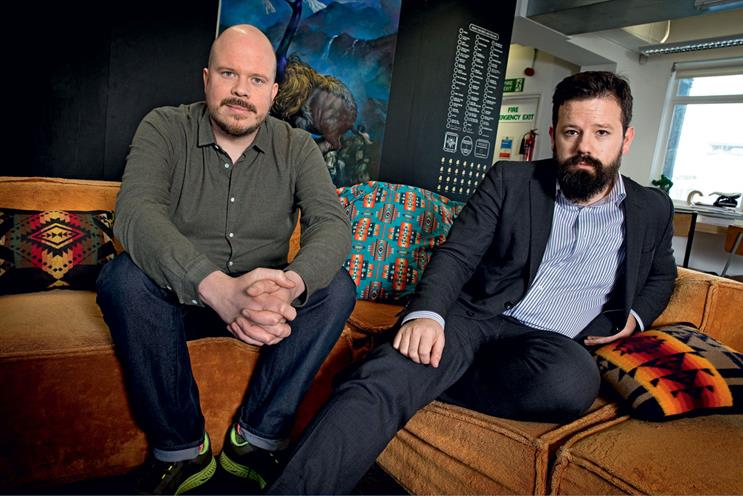 Warren (l) and Shute…'creativity needs to be proactive. We shouldn't need a brief to come up with something brilliant'