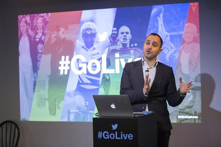 Dara Nasr: UK managing director at Twitter