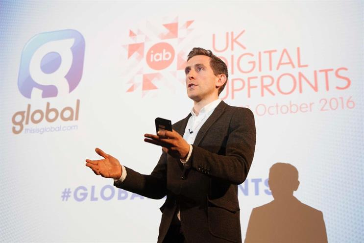 Ollie Deane: Global's commercial director said Listener ID will track users' behaviour after an ad is served