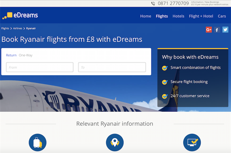 Ryanair appeals to Google to block 'misleading' search ads