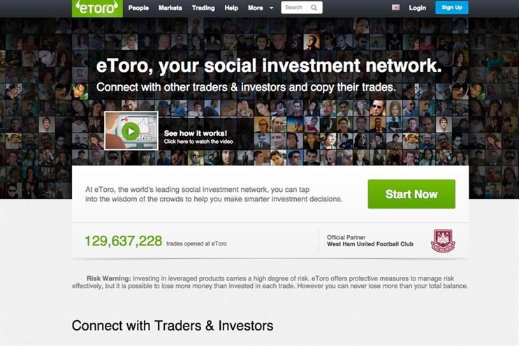 EToro: Atomic will create the debut campaign