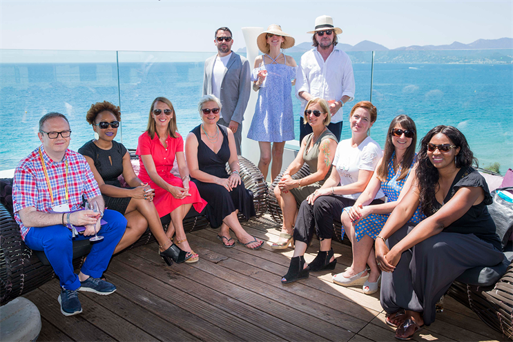 (l-r) Warner, Monster Worldwide; Ojo, CoverGirl; Tilling, formerly KFC; Oliver, Mars; Roberts, Trailer Park London; Beale, Campaign; Jaume, WCRS; Hatherall, Johnson & Johnson; Dimiziani, AirBnB; Klein, Engine; Saidi, Department of International Trade