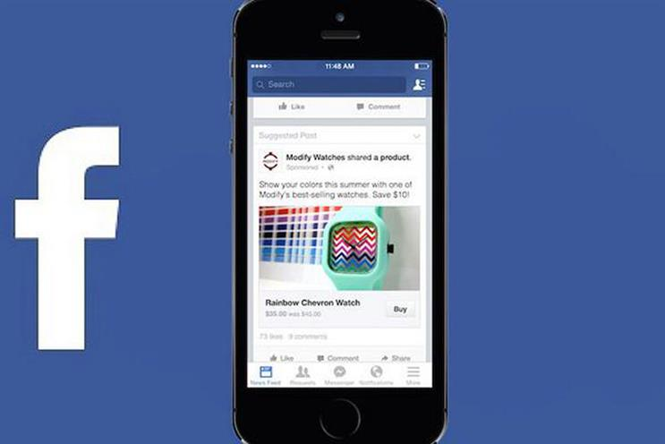 Facebook: trials 'Buy' button