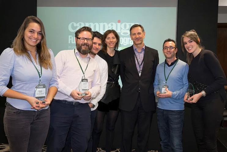 Future Leaders 2015 (l-r): Petra Bernet, James Hart, Christopher Boyton, Claire Beale, Mark Lund, Elliot Parkus, Hayley Inglis