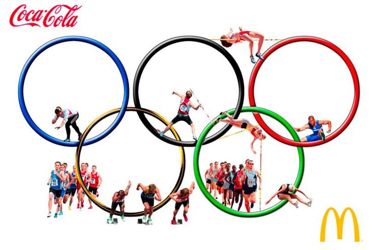 Coca-Cola continues its relationship with the Olympics, while McDonald's has brought it to an end