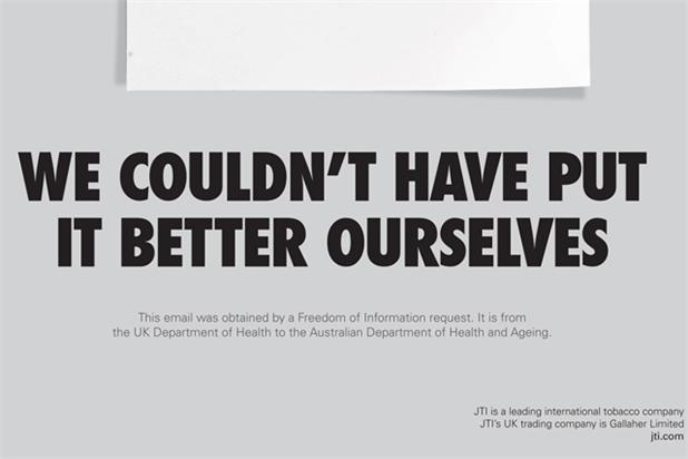 Gallaher: plain tobacco packaging ad is banned