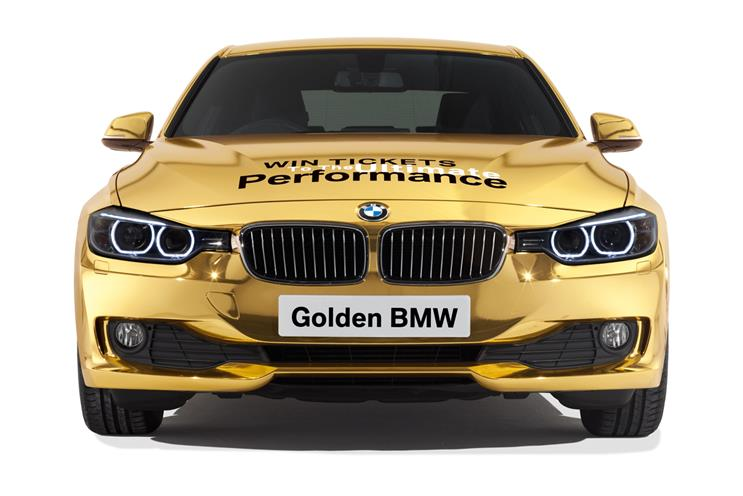 BMW…supported the London 2012 torch relay with a golden car relay