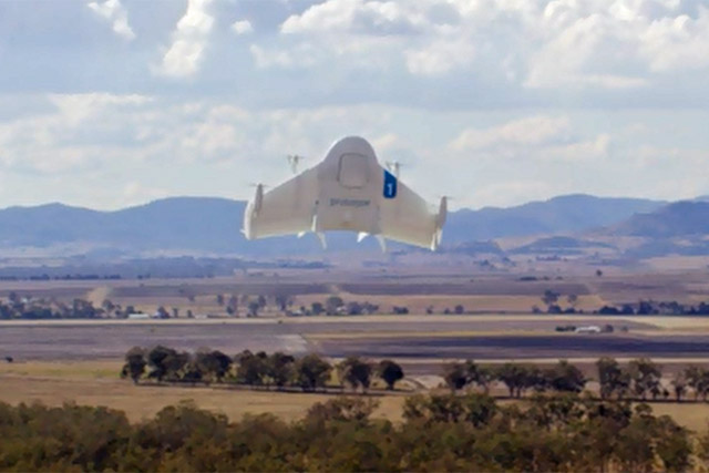 Google: tests deliveries by its Project Wing drone system