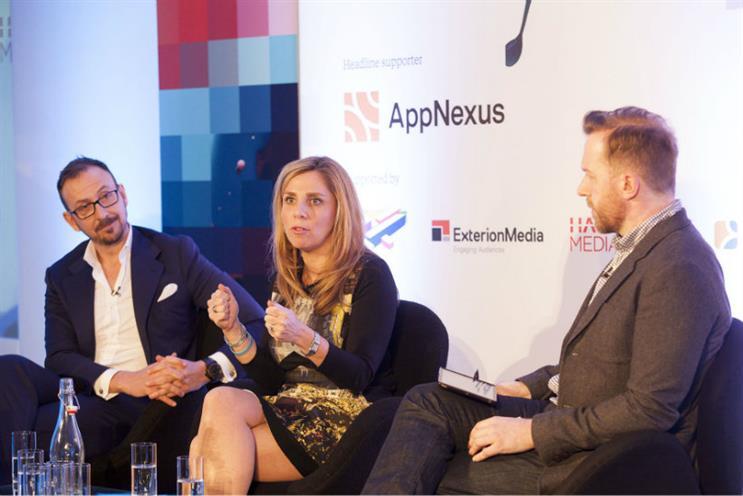 Facebook and TV: Sky's Stephen van Rooyen, Facebook's Nicola Mendelsohn and moderator Robert Andrews