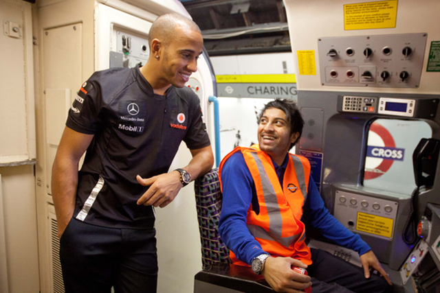 Lewis Hamilton: the Formula 1 star took part in Diageo's festive responsible drinking push last year