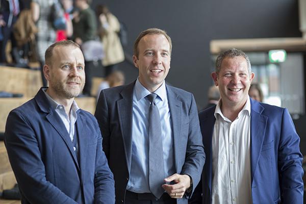 Chris Hirst, UK and European CEO at Havas; Hancock; and John Kampfner, CEO of Creative Industries Federation