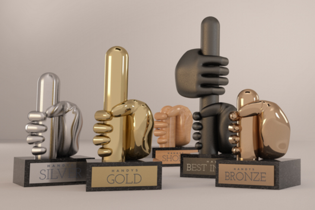 The Handy Awards: critiques onanistic nature of ad industry awards shows.