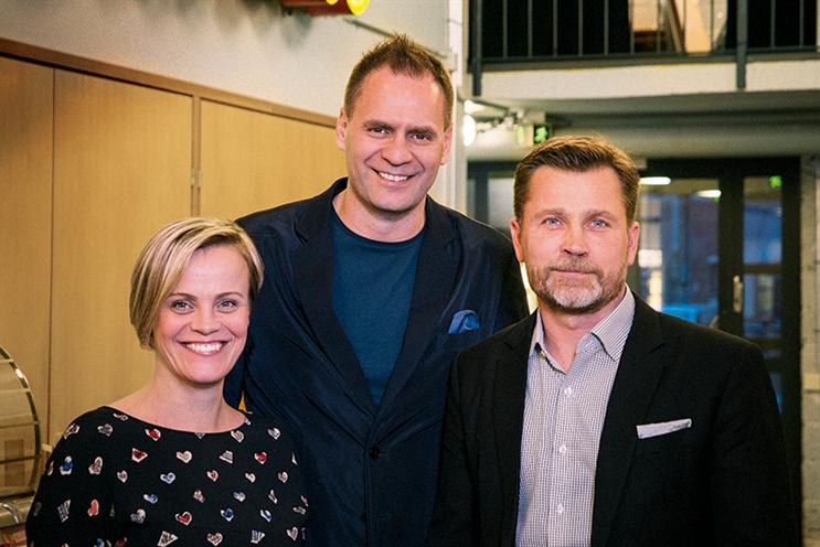 From left: Anna-Riikka Hovi, EkaRuola and Panu Nordlund