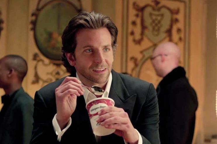Bradley Cooper: stars in General Mills' Häagen-Dazs campaign