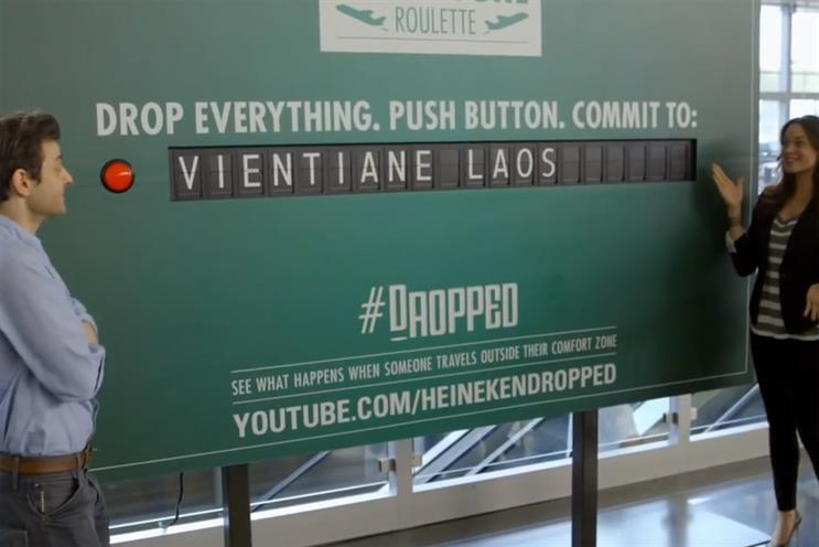 Heineken: departure lounge roulette shared most this week