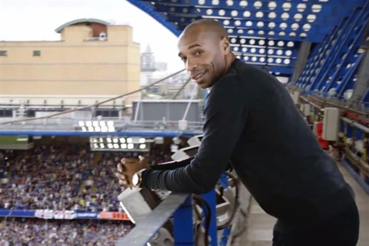 Thierry Henry: stars in Sky's latest ad for the new Premier League football season