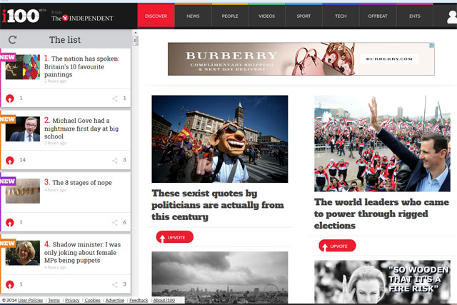 i100: website launches with a native-content partnership with First Direct
