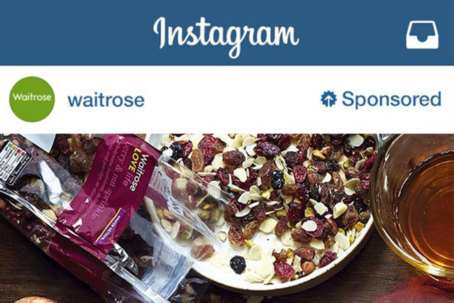 Waitrose: one of the first brands to sign up to Instagram's ad service