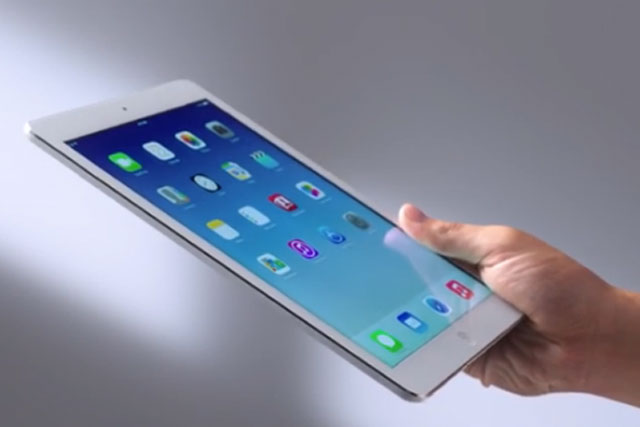 IPad Air: expected to boost Apple's sales revenue in the run-up to Christmas