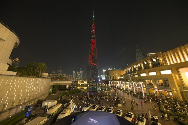 Jaguar: the luxury car brand became the first to advertise on the Burj Khalifa
