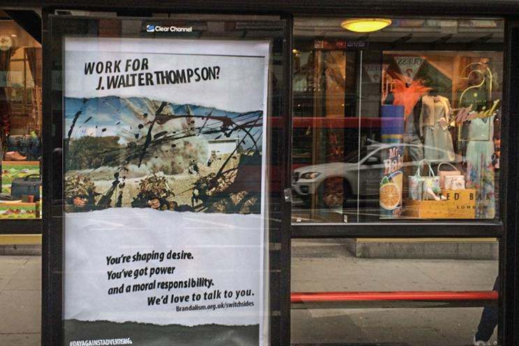 JWT: outdoor ad in London calls on staff to switch sides