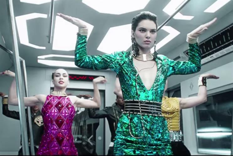 Balmain x H&M: the futuristic ad campaign features Kendall Jenner
