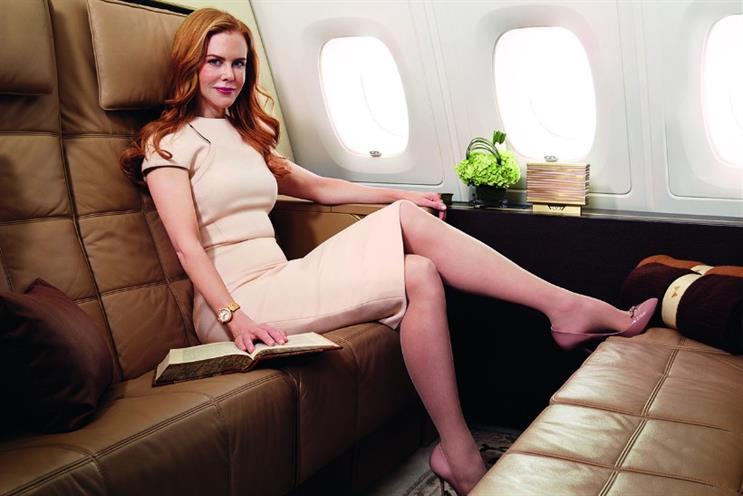 Etihad Airways: has unveiled Nicole Kidman as global ambassador