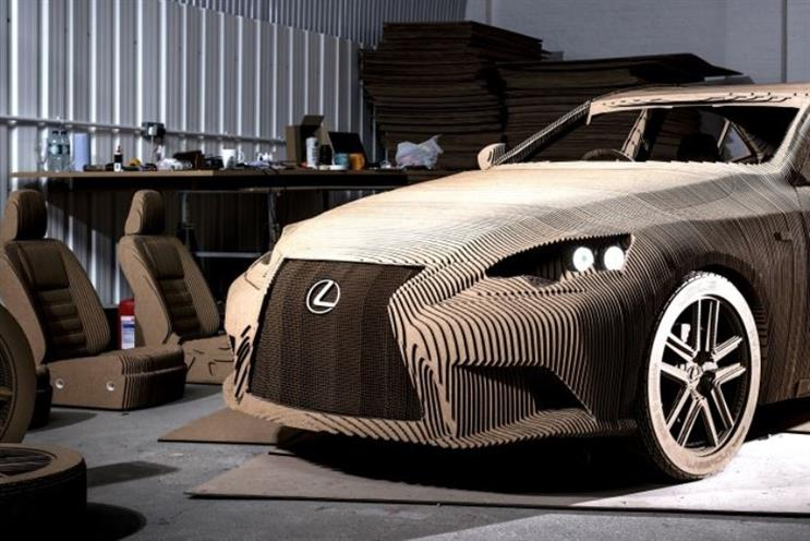 Lexus: car brand has fashioned a fully driveable real-size origami car replica