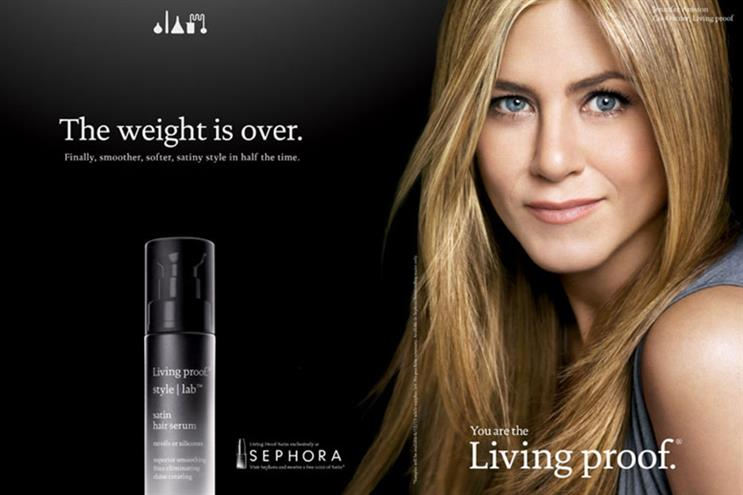 Living Proof: Jennifer Aniston owns a stake in the business