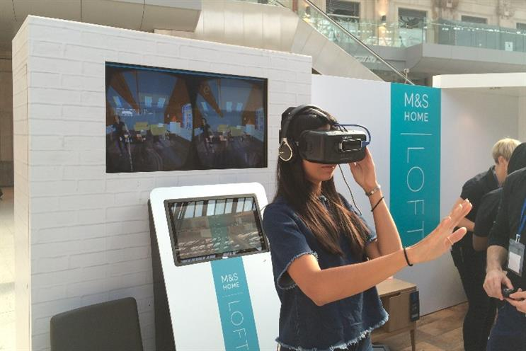 M&S: virtual reality stunt to promote homeware