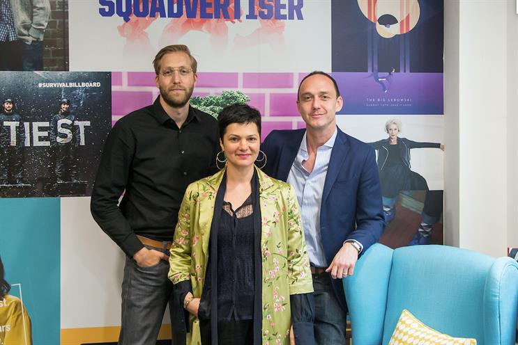 McCann (L-R): Theo Izzard-Brown, Sheryl Marjoram and Alex Lubar
