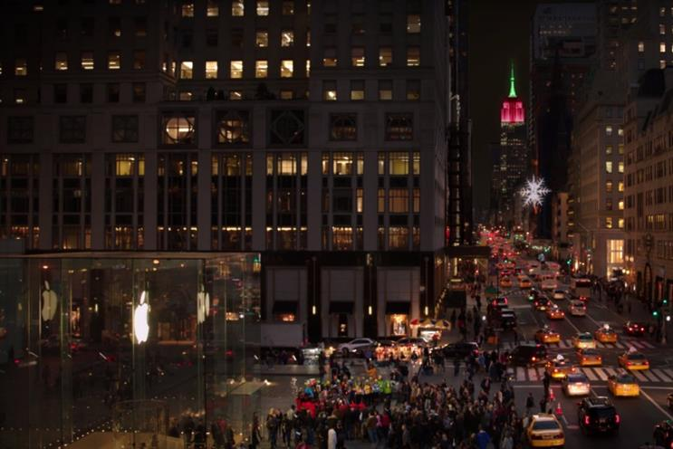 Microsoft's Christmas ad: Yes, that is a prominent Apple logo you can see there