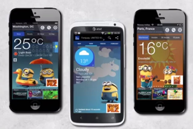 Snappy apps: The Weather Channel delivers the Despicable Me 2 campaign