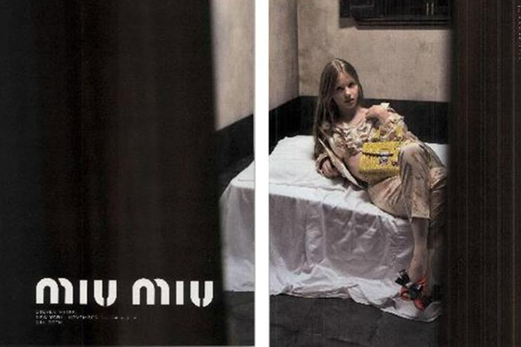Miu Miu: this ad, which appeared in Vogue, has been banned