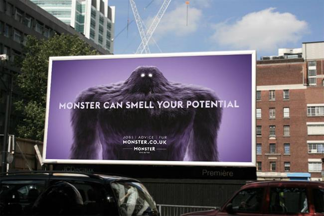 Monster's campaign will feature a heavyweight outdoor campaign